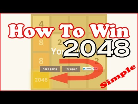 How to Win '2048' Game Puzzle - Winning Complete Gameplay Tip Trick Strategy - FULL HD - YouTube