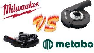 супер ТЕСТ. Шлифование бетона . MILWAUKEE  VS  METABO