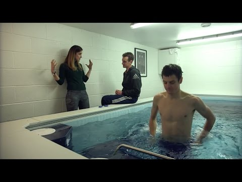 Alistair & Jonathan Brownlee training in an Endless Pool