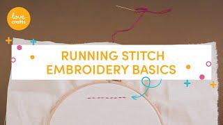 Embroidery Basics - Running stitch