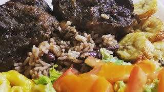 Ninja Foodi Oxtails Rice & Peas + Plantains Pressure cooker/Air Fryer Combination Cooking