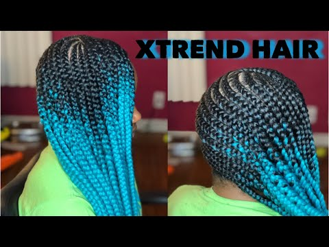 Lemonade Braids on 4C Hair Using Only Edge Control  Xtrend Hair