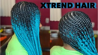Lemonade Braids on 4C Hair Using Only Edge Control | Xtrend Hair