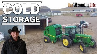 Putting Away Tractors on the Ranch - Wyoming Winter Storage