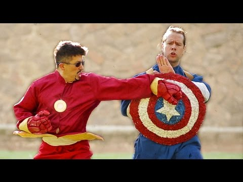 KUNG FU AVENGERS: CIVIL WAR - TEASER - Iron Man VS Captain America