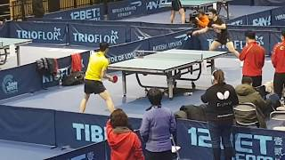Ma Long and Fan Zhendong Training at 2018 World Team Table Tennis Cup London