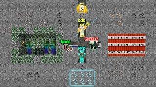 Minecraft Battle: MINING BATTLE CHALLENGE! NOOB vs PRO vs HACKER vs GOD in Minecraft Animation