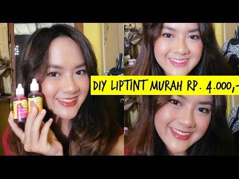 BIKIN LIPTINT MURAH RP. 4000 ALA KOREA   DIY LIP TINT + SWATCH   Alifah Ratu Saelynda (Indonesia)