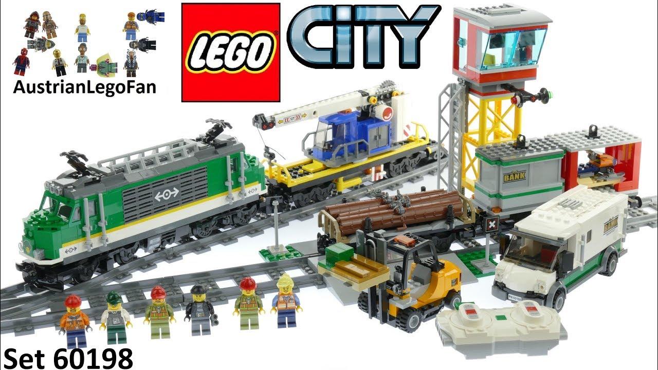 Lego City 60198 Cargo Train 2018 Lego Speed Build Review Youtube
