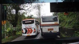 Duel bus di jalur sempit Jogja—Semarang | Nusantara Scania vs Santoso D 160 DA JANDA