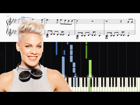 P!nk - What About Us - Piano Tutorial + SHEETS