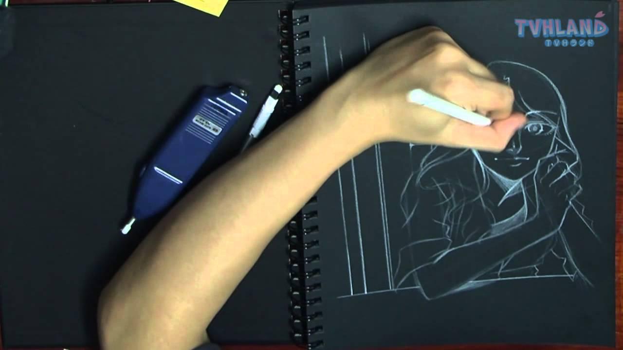 le on 18 faire un dessin en n gatif youtube. Black Bedroom Furniture Sets. Home Design Ideas