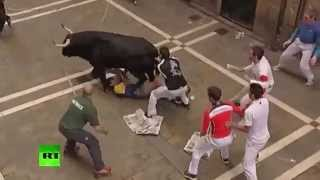 Разъяренные быки забодали 23 человека в Испании точнее в Барселоне
