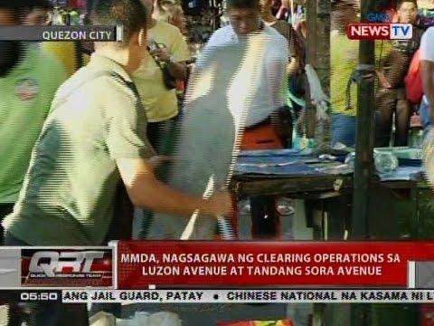 MMDA, nagsagawa ng clearing operations sa   Luzon Avenue at Tandang Sora Avenue