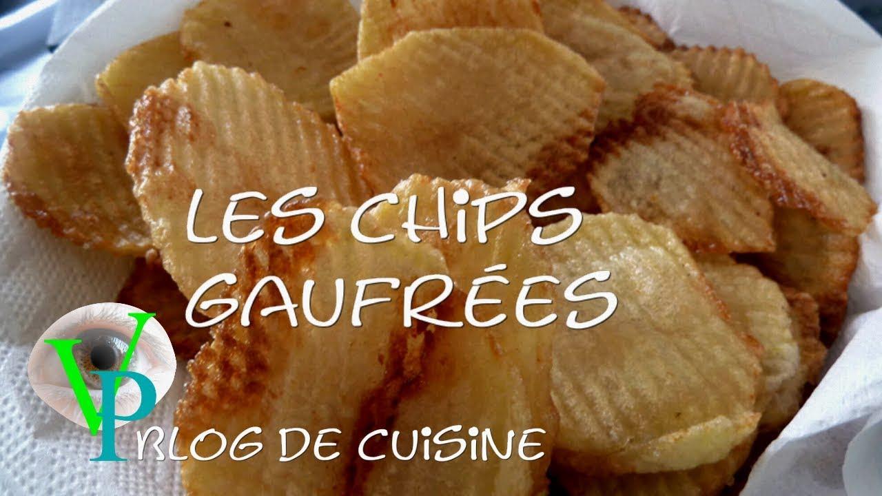 La réalisation des chips gaufrées.