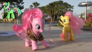 Пинки Пай и Флаттершай на море! 2-я серия! КОНКУРС Май Литл Пони мультик с игрушками от Kiwi Show