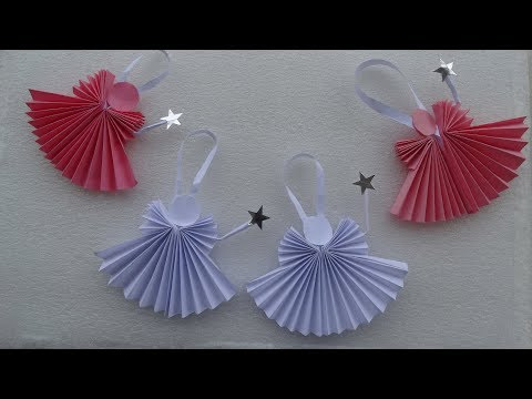 How to make easy Paper Angel |Christmas Ideas |DIY Christmas Ornaments |  Christmas tree decorations