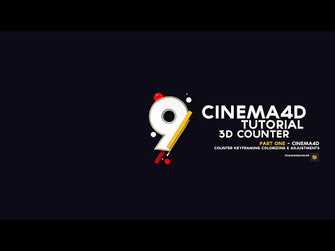 CINEMA 4D TUTORIAL- 3D COUNTER  - (Part 1 cinema 4d )
