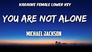 Not alone karaoke female lower key ...