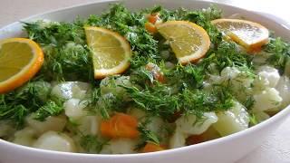 Полезный и вкусный салат из топинамбур. Yer elması yemeği.Как приготовить земляную грушу?