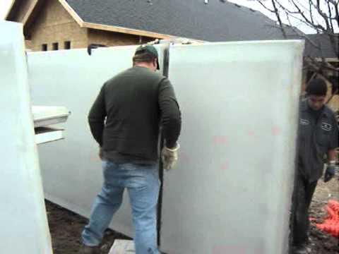 Pre Cast Concrete Wall Installations By Vinyl Industries Utah; 877-216-3166