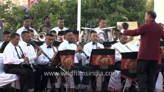 Indian Army Band performing medley during Kargil Diwas