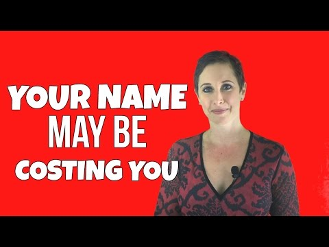 YOUR NAME MAY BE COSTING YOU THE JOB!!  (Discrimination in the Job Market) | Debra Wheatman