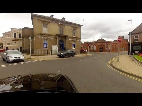 GoPro timelapse drive through Arbroath, Scotland