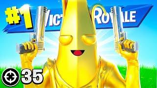 Gold Peely Unlocked!! Winning In Solos!  Fortnite Battle Royale