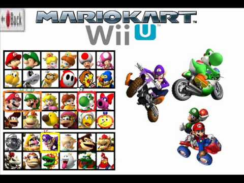 mario kart wii u 8 character roster ideas youtube. Black Bedroom Furniture Sets. Home Design Ideas