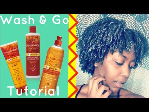 I FINALLY CONQUERED THE WASH & GO | CREME OF NATURE FOR NATURAL HAIR REVIEW