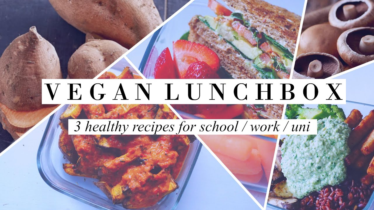 VEGAN LUNCH BOX 01 3 Healthy Recipes For School Work Uni
