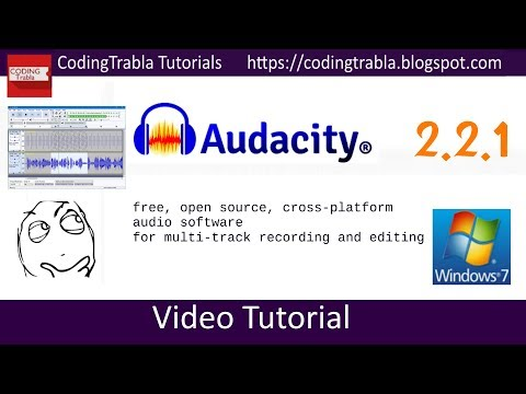 Install Audacity 2.2.1 on Windows - free opensource audio software