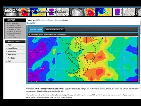 NASA Earthdata Webinar Series: Giovanni - Access and Visualize Earth Science Data Online