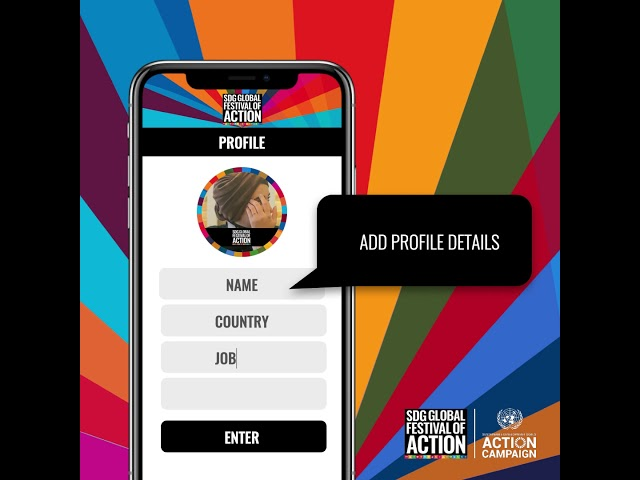 Create your SDG Global Festival of Action profile