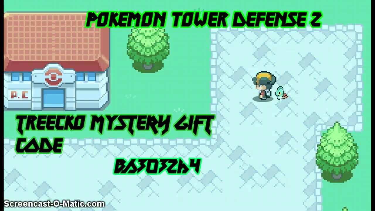 Pokemon Tower Defense 2 Shiny Treecko Mystery Gift Code