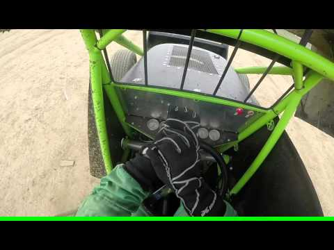 Mark Lambert Sprint Car Helmet Cam @ Brownstown Speedway