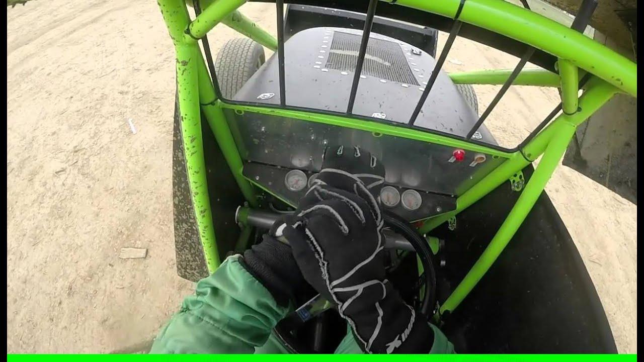 Mark Lambert Sprint Car Helmet Cam @ Brownstown Speedway - YouTube