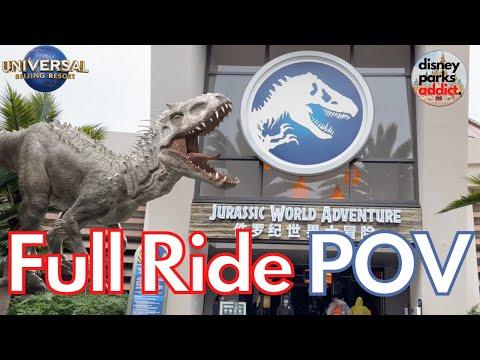 [4K] Jurassic World Adventure - POV - Universal Studios Beijing - Opening Day
