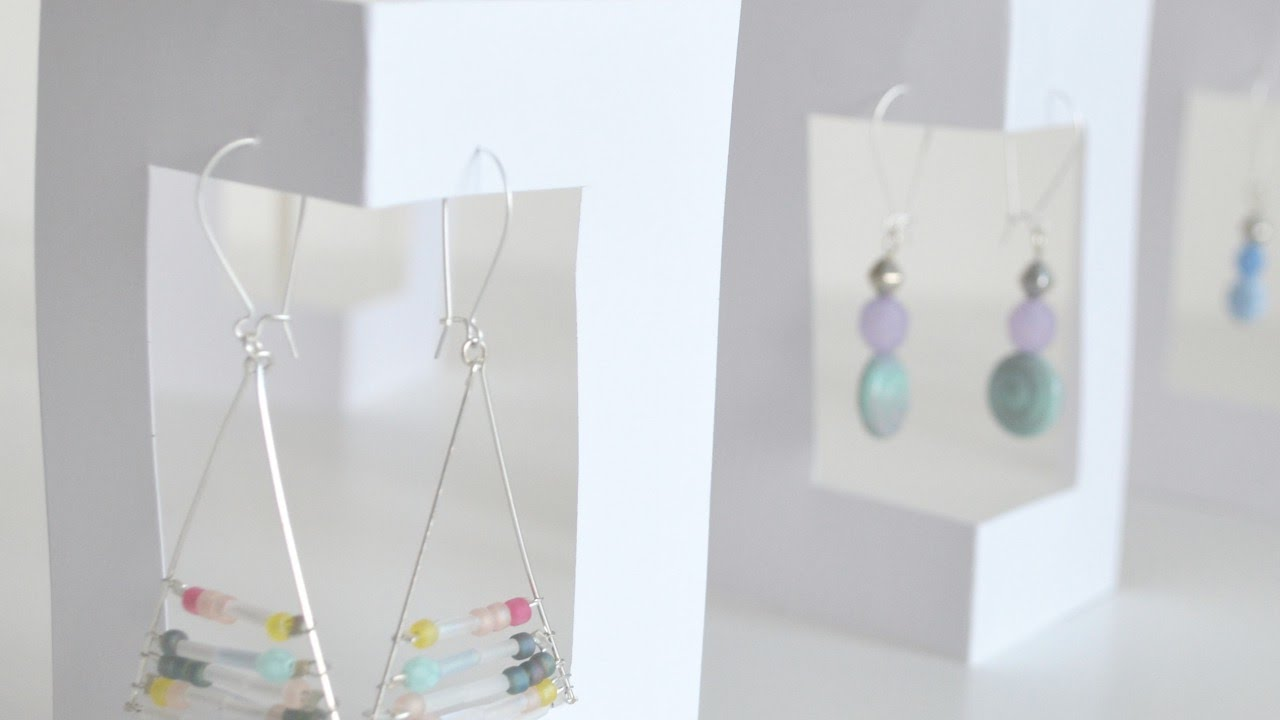 How To Make A Simple Card Earring Display Diy Crafts Tutorial Guidecentral