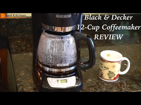 Black Decker 12 Cup Programmable Coffeemaker Review Youtube