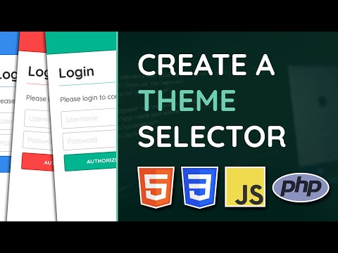 Create A Theme Selector With HTML, CSS, JavaScript & PHP - Web Design Tutorial