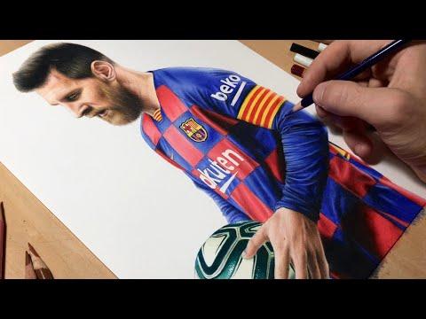 Drawing Leo Messi (2020)