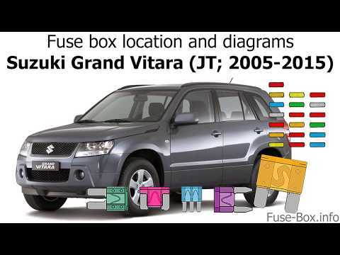 [SCHEMATICS_48YU]  Fuse box location and diagrams: Suzuki Grand Vitara (JT; 2005-2015) -  YouTube | 2002 Suzuki Vitara Fuse Diagram |  | YouTube