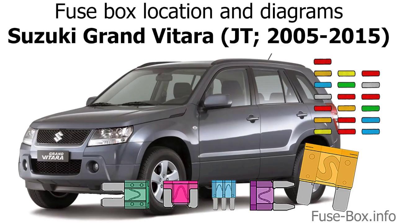 Fuse box location and diagrams: Suzuki Grand Vitara (JT