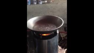 TLUD gasifier rocket stove hybrid
