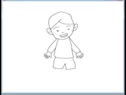 Menggambar Figur Berdiri Laki Laki Youtube