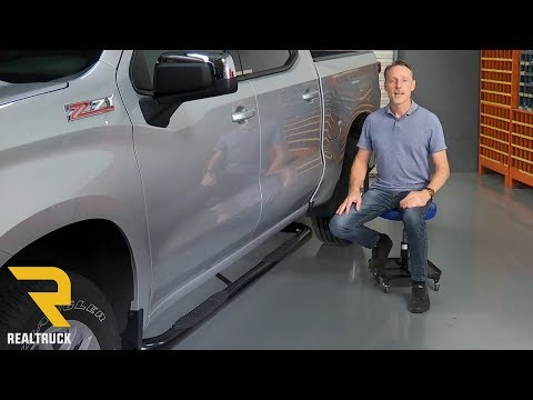 "How to Install Ionic 3"" Black Nerf Bars on a 2019 Chevy and GMC 1500 Crew Cab"
