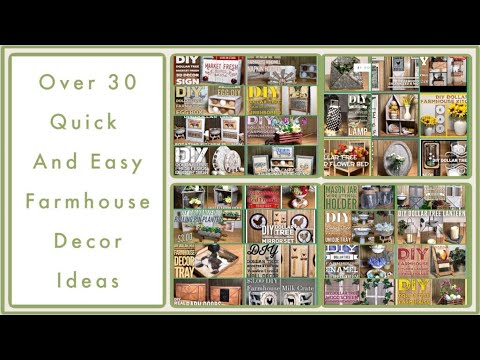 Over 30 Dollar Tree DIY Farmhouse Decor Craft Ideas 2019 - Farmhouse, Rustic, Modern And More