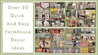 Over 30 Dollar Tree DIY Farmhouse Decor Craft Ideas 2019 - Farmhouse, Rustic, Modern And More
